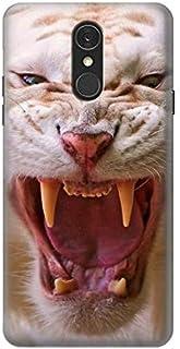 Innovedesire White Saber Toothed Tiger Funda Carcasa Case para LG Q7