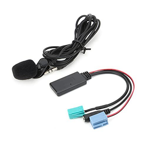 Aramox Car Audio Adapter, DC12V Bluetooth 5.0 AUX Cable 6Pin 8Pin Adaptador con reemplazo de micrófono para Clio/Espace/Kangoo