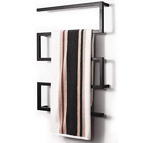 MNBVC Calentador de Toallas, Toallero eléctrico de Acero Inoxidable, Secador de Toallas Inteligente termostático, Estante de Almacenamiento para baño de Hotel