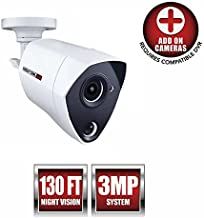 Night Owl Security 1 Pack Extreme HD 3MP Dual Sensor Wired Infrared Camera (White, Replacement Camera Only, No Charger, No Cable)