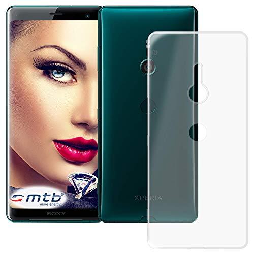 mtb more energy® Schutz-Hülle Clear und Slim für Sony Xperia XZ3 (6.0'') - transparent - flexibel - TPU Silikon Hülle Cover Tasche
