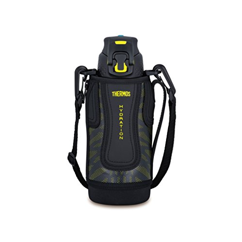 Thermos vacuum insulation sports bottle [one-touch open type] 0.8L black yellow FFZ-801F BKY