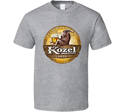 N/Y Velkopopovicky Kozel Premium Bier Cool Worn Look T-Shirt Sport Grau Gr. L, Schwarz
