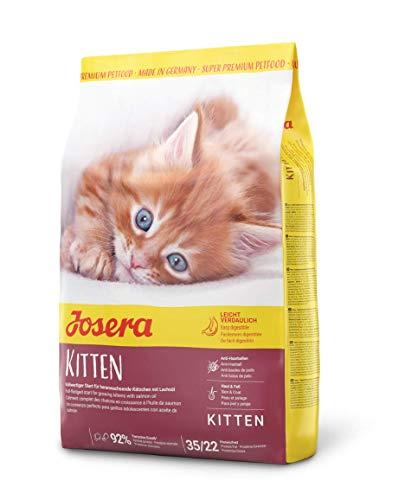 Josera Kitten (1 x 2 kg), Kattenvoer voor een optimale ontwikkeling, Super Premium droogvoering voor groeiende katten, per stuk verpakt