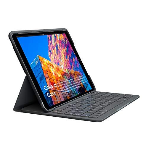 Logitech SLIM FOLIO iPad Air (3. Generation) Tastatur-Case mit integrierter kabelloser Tastatur (Modell: A2152, A2123, A2153, A2154), UK QWERTY-Layout - Grafit