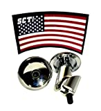 SCT USA Scooter and Bike Aluminum Bar Ends Plugs (Chrome)