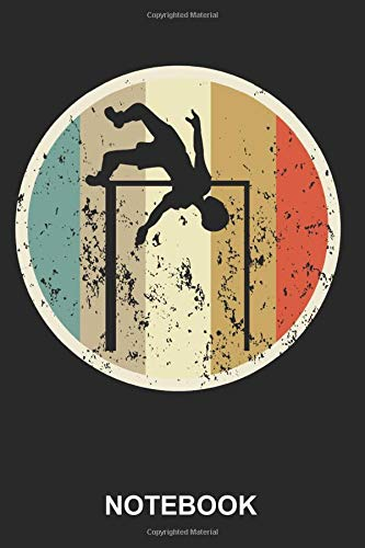 Notebook: High Jumper Jumping Sports Athletics Athlete Cute Retro Vintage Grunge Style | Diary, Notebook and Journal | Size 6&qu