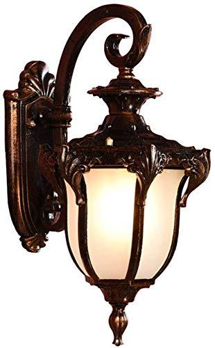 Grote buiten hangende lantaarn buitenlamp voor voordeur rustieke bronzen olie gewreven brons Plus glas schaduw voor tuin, veranda, villa's, Court-Yard