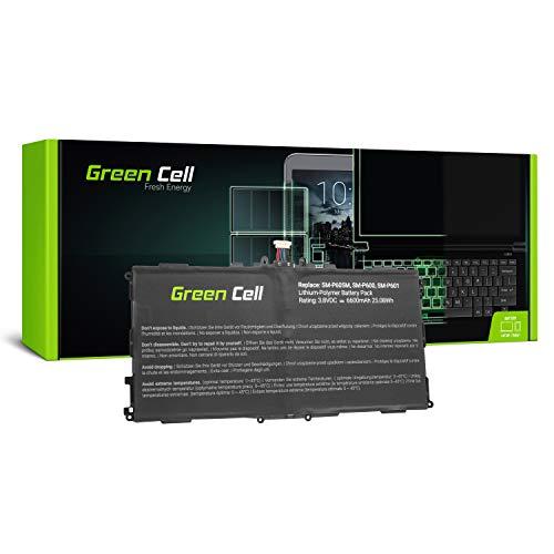 Green Cell (3.8V 25Wh 6600mAh) Batería para Samsung Galaxy Note 10.1 2014 SM-P600 SM-P6000ZWYXAR SM-P601 SM-P605 SM-P605M SM-P605V SM-P607T SM-T520 SM-T525 SM-T527P TabPRO Tablet