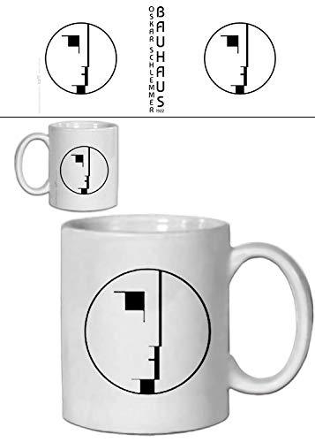 1art1 Oskar Schlemmer, Staatliches Bauhaus, Logo, 1922 Foto-Tasse Kaffeetasse (9x8 cm) Inklusive 1x Überraschungs-Sticker