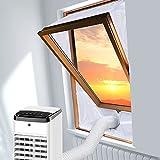 Fensterabdichtung für Mobile Klimageräte Dachfenster Hot Air Stop zum Anbringen an Schwingfenster, Fensterabdichtung Fensterkitt Set 2x150cm