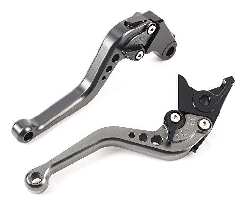 MOTO Frenos y embrague CNC Corto palanca Ajustable aluminio para sport bike HONDA CBR 600 F2,F3,F4,F4i CBR900RR CB599/CB600 HORNET CB919 VTX1300 NC700 S/X un par (F18/H626) SPL028 (TITANIUM)