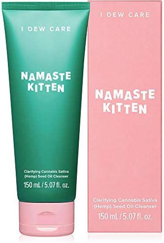 I DEW CARE Namaste Kitten Vegan Face Wash Clarifying Cannabis Sativa Hemp Seed Oil Facial Cleanser product image
