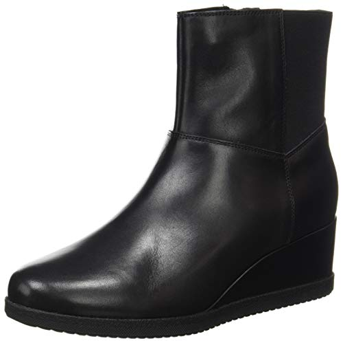 Geox Damen D Anylla Wedge H Ankle Boot, Schwarz, 39 EU
