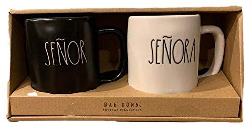 Rae Dunn By Magenta Senor And Senora Black And White Coffee Mug Gift Pack