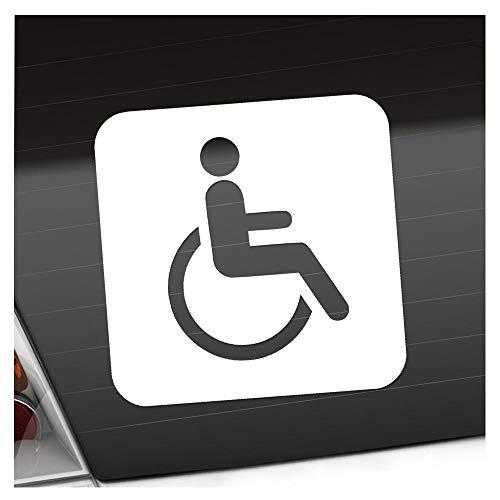 Kiwistar Behinderte Rollstuhl WC Piktogramme Aufkleber Sticker 25 Farben Neon Matt