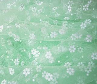 AIREQN 200 * 150cm Belle Petite Fower Tulle Tissu floqué Vêtements Voile Décoration Bricolage Couture Artisanat Fourniture...