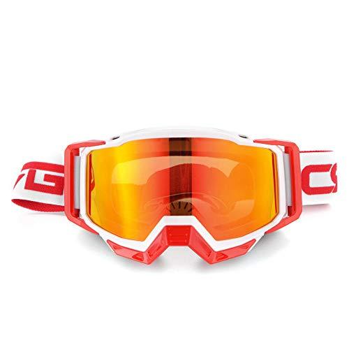 Jbwlkj Motocross Motorradbrille Brille Mx Offroad Helme Sport Anti Wind Brille Snowboard MTB ATV Rennbrille Pit Bike-Model_20 Sonnenbrille