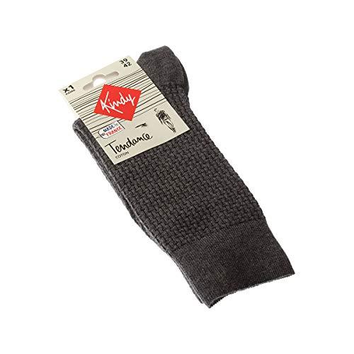 Kindy – Socken Fantasie, Baumwolle, hergestellt in Frankreich Gr. 43/46, grau
