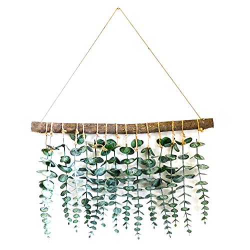 FLCSIed Artificial Eucalyptus Wall Decor - Wall Hanging Eucalyptus Greenery Gives Any Room a Natural, Trendy, Modern Feel - Boho Bedroom Decorations, Wedding Decorations, Kitchen Decorations