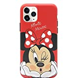 MC Fashion iPhone 11 Pro Case, Cute Vibrant Matte IMD Cartoon Case, Slim Fit Black Bumper Full-Body Soft Protective TPU Case for Apple iPhone 11 Pro 5.8 inch 2019 (Kiss Minnie Mouse)