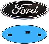 9 Inch Front Grille Rear Tailgate Emblem, 9'X3.5' Oval Badge Name Plate for 2004-2014 F150, 2005-2007 F250 F350, 11-14 Edge, 11-16 Explorer, 06-11 Ranger (Black)
