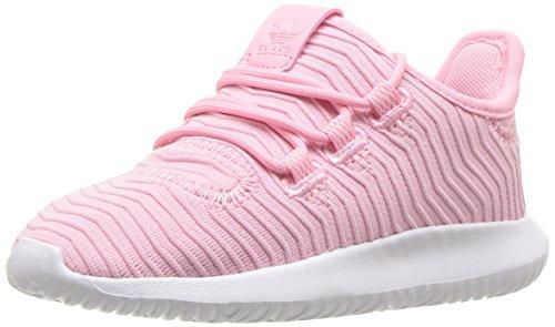adidas Originals Baby Tubular Shadow Running Shoe, Light Pink/White, 6K M US Toddler
