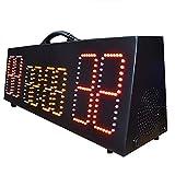 Marcador deportivo Tablero electrónico portátil LED Pantalla electrónica recargable Pantalla de anotación de baloncesto para baloncesto interior al aire libre ( Color : Black , Size : 70x21.5x18cm )