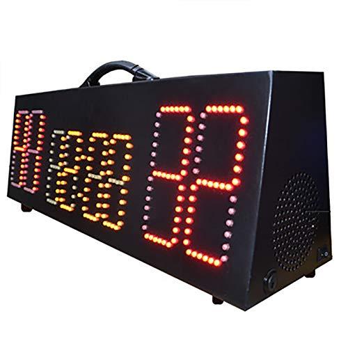 JTRHD Marcador portátil Puntuación electrónica Pantalla de anotación de Baloncesto LED Puntuación electrónica portátil Recargable para Tenis de Mesa Baloncesto (Color : Black, Size : 70x21.5x18cm)