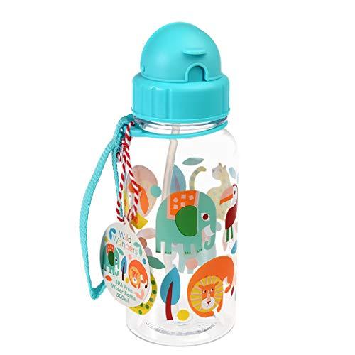 Wild Wonders Botella de agua de plástico libre de BPA para niños, 500 ml