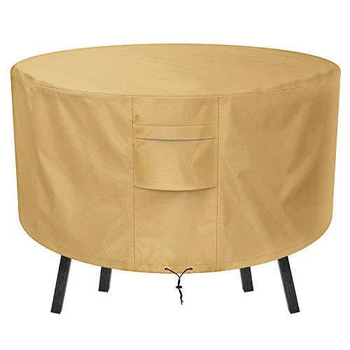 Sunkorto Abdeckung für Gartenmöbel Schutzhülle rund Tisch Gartentisch Abdeckung wasserfeste verschleißfeste 127 x 59 cm