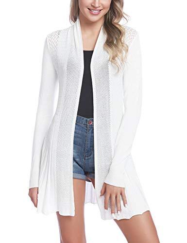 iClosam suéter casual de manga larga con frente abierto para mujer -  -  X-Large