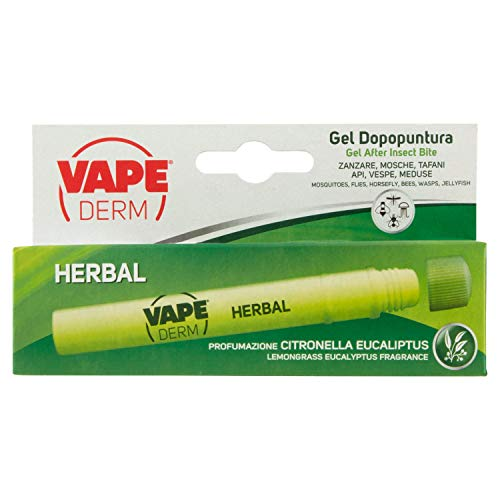 Vape Derm Herbal Penna dopo Puntura, Immediato Sollievo, Confezione Tascabile