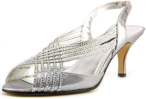 Caparros Quayliah Kitten Heel Evening Sandals, Silver Flame, 5, Silver, Size 5.0