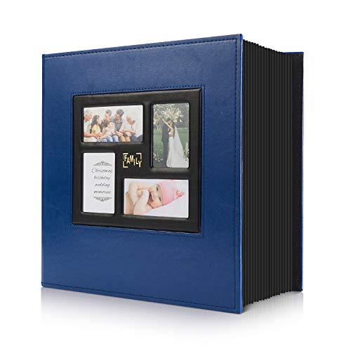 Photo Album 4x6 800 Pockets Photos, Extra Large Capacity Family Wedding Picture Albums Holds 800 Horizontal and Vertical Photos (800Pockets, Blue)