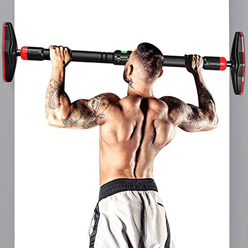 Barra per trazioni con livella, telaio della porta senza viti, tecnologia Pull Up Bar per allenamento a casa, per esercizi al chiuso (98-125 cm)