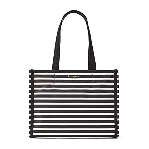 Kate Spade Medium Tote Handbag One Size Black Clotted Cream