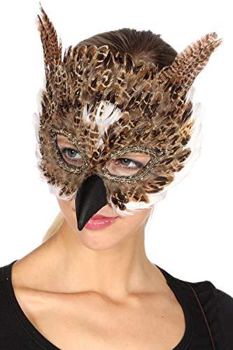 Wilbers Kostüm Zubehör Maske Eule Karneval Fasching Party Maskenball