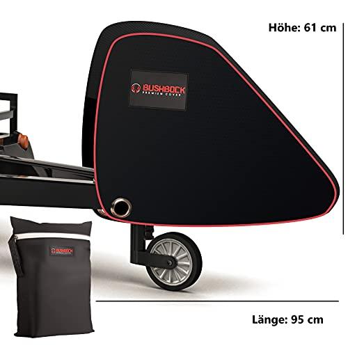 BUSHBOCK® Premium Deichselhaube aus Oxford 600D Material mit PU Beschichtung und Reflektoren. Universal Deichselabdeckung für Wohnwagen / Anhänger mit Antischlingerkupplung & Kastenschloss
