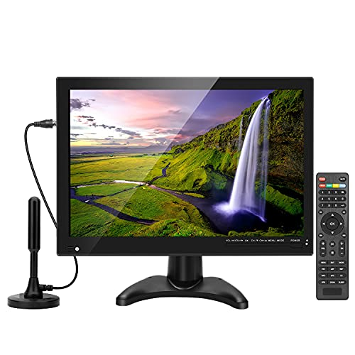 14inch Portable TV with Digital Dual Tuners ATSC and NTSC,Battery Operated tv with HDMI/USB/RCA Inputs