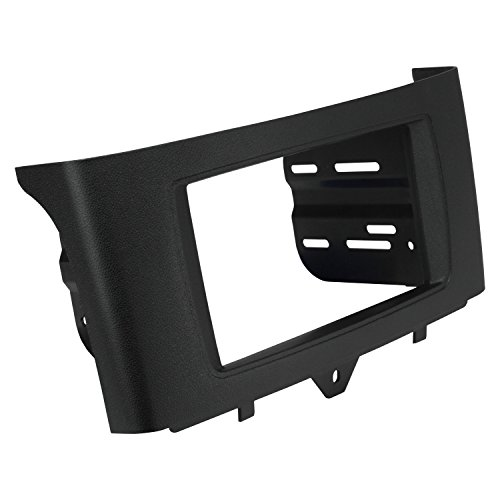 Scosche ST2431B Compatible with 2011-Up Smart Fortwo, ISO Double DIN & DIN+Pocket Dash Kit Black