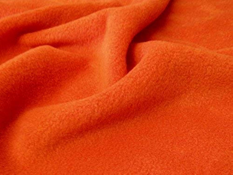 QUALITT Anti-fussel Polar Fleece Stoff - Orange - Orange, 10Mtr - 1000cmx150cm