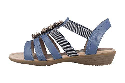 Jana Sandalette in Übergrößen Blau 8-8-28120-22 800 große Damenschuhe, Größe:44
