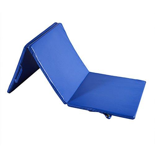 KOOLWOOM Gymnastics Mat PU Leather Thick Folding Panel for Gym Fitness Tumbling Yoga