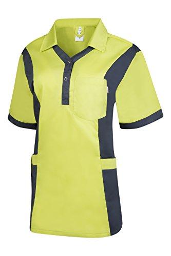 Clinotest Damenkasack Julia, Gesundheitswesen, für die Pflege, Berufsbekleidung, in Trendfarben (M, new lime/nimbus grey)