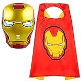 Superhero Cape and Masks Superhero Toy for 3-10 Year Old Boys Superhero Dress up Masks Kid Best Gifts