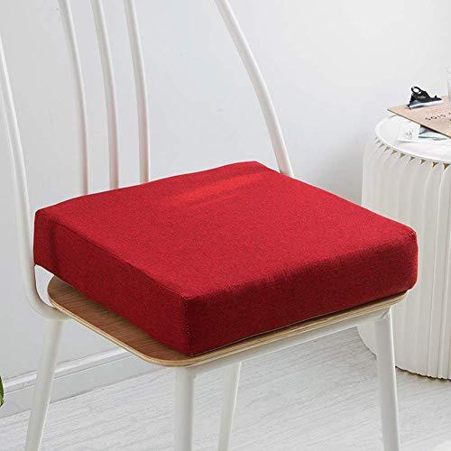 Pillowcase 123 Cojín de Silla Acolchado Grueso Cojín de Silla Espuma viscoelástica, Cojín de Silla Antideslizante Desmontable, Cojín de Asiento cómodo para sillas/sofá/sillón