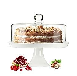 Sendz glass bell cake bell cheese bell foot porcelain cake plate cake plate