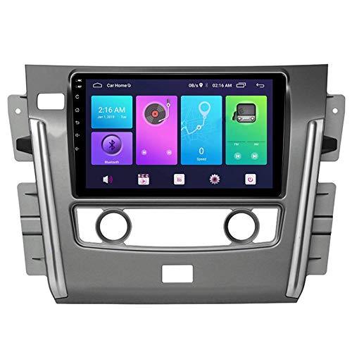 Android 10.0 Car Stereo Double Din Compatible con NISSAN PATROL 2010-2017 Navegación GPS Unidad principal de 10 pulgadas Reproductor multimedia MP5 Receptor de video y radio con 4G WIFI DSP Carplay
