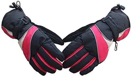 Guantes térmicos, guantes térmicos con batería para hombres, mujeres, recargables, impermeables, temperatura de calentamiento, pantalla táctil ajustable, guantes térmicos para motocicleta para ac